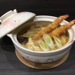 フードダイニング粋 - 海老とじ鍋焼きうどん1,280円