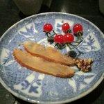 ツルカメノミセ - 3品目は鴨肉のハムです。