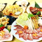 魚七鮮魚店 - 名物づくし極上コース【飲み放題60種類付】4名様~