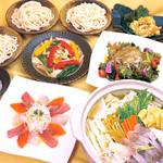 魚七鮮魚店 - 産直得々コース【飲み放題60種類付】3名様~