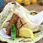 寿司ろばた 八條 - 太ごぼうと鯛カマの唐揚げ