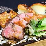 寿司ろばた 八條 - 牛サーロインの炙り焼き