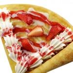 ミルク&パフェ よつ葉ホワイトコージ - 練乳いちごのクレープ   490円