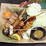 寿司ろばた 八條 -  串焼き盛り合わせ(5本)