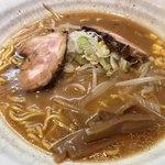 かじべえ - 味噌ラーメン。麺とスープ、絶品。