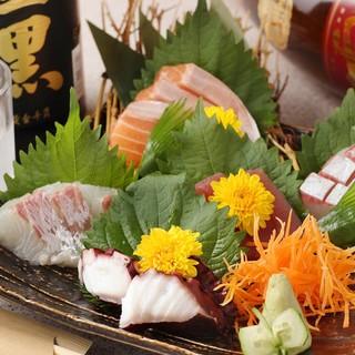 地元岸和田の漁港から新鮮な魚を毎日仕入れ!