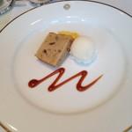 資生堂パーラー - 栗のパウンドケーキと洋梨のソルベ