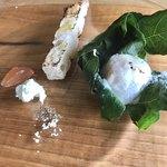 マンマ・ミーア! - 里芋、ゴルゴンゾーラチーズ、自家製カンパーニュ、無花果のコンフィチュール