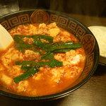 まないた家 - 辛麺(中華麺の8辛)とライス
