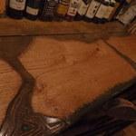 カフェハウスNavo* - 彫刻刀で8時間かけて一人分を彫ったそうです