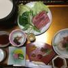 越後屋旅館 - 料理写真:最初に並べてくれた豆乳鍋の方