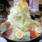 筑前屋 - バカ盛野菜サラダ¥680