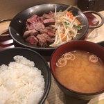 鉄板TOKYO - ランプステーキ定食