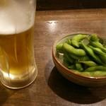 えいちゃん - 生ビールと枝豆