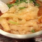 刀削麺荘 唐家 - 刀削麺の肌感