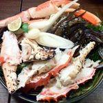 美門や 東京大手町店 - 豪華蟹すき鍋の具材(美門やコースのVIPコース)