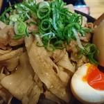 武士道 - 漢の味噌ら~めん♪(オニク天下盛り・野菜大盛り・味タマ)