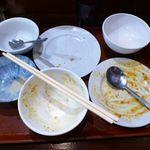 中華料理 大福楼 - 若鶏唐揚げ+麻婆豆腐ランチ(大盛)750円(ランチは、ライス&スープのおかわり無料)
