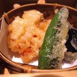 鮨匠なか川 - 天ぷら(桜海老かき揚げ)