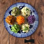 辺銀食堂 - コース料理例(季節の島野菜の盛合せ)