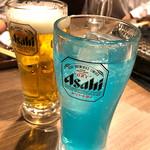榮華亭 - ブルーハワイ&生ビール