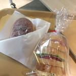 75361381 - 揚げパン200円  サンドウィッチ310円を購入