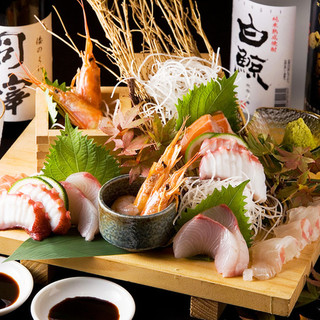 新鮮鮮魚が毎日入荷!本日のおすすめにて提供しています!