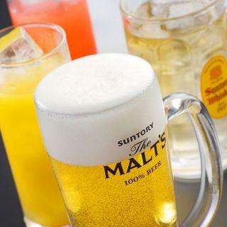 昼飲み限定!生ビール含むドリンク全品198円でご提供