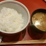 75366090 - つやつやご飯と味噌汁。