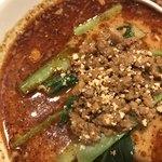 天府 - 赤担々麺。       旨し。
