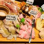 肉酒場ビストロ男前 - 2017/10/21 ディナーで利用。 肉前菜盛り合わせ(980円+税)×2人分