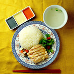 海南鶏飯とミニカレーセット