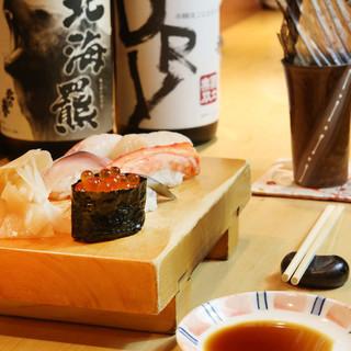 高級寿司の味をリーズナブルに♪