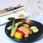 リストランテ ワイン屋 - 大山鶏のグリル