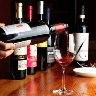料理との相性抜群◎ソムリエ厳選のワインに舌鼓