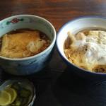 さ和乃 - カツ丼セット/きつね蕎麦を選択