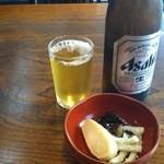 さ和乃 - 中瓶ビールとお通し