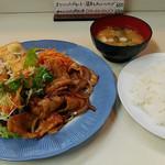 ランチハウス - 豚焼肉と揚げ豆腐セット