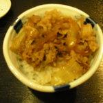 はぎの - ミニ牛丼