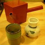 はぎの - お茶代わりの蕎麦湯セット
