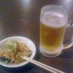 7539931 - 生ビール+お通し