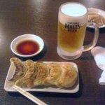 7539932 - 生ビール+焼餃子