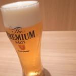 ビール (サントリープレミアムモルツ) グラス