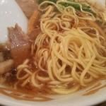 らぁめん茶房 咲来 - 石丸テングラーメン 麺の状態(2017.10.26)