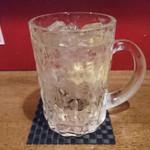 平塚バル SOLE - ハイボール       グラスはマイグラスで