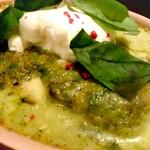 ラザーニャ・ラザーニャ - 海老とマッシュルーム、アボカドのジェノベーゼソースのラザーニャ