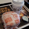 マクドナルド - ドリンク写真:ダブルチーズバーガー・ホットコーヒー