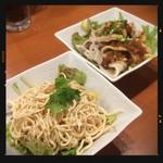 四川麻辣火鍋 天府 - 干し豆腐&豚しゃぶサラダ