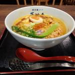 博多鶏ソバ 華味鳥 - ◆博多麻辣坦々麺(880円:税込)・辛さを選べますので「辛口」で。 私には辛かったので「普通」でよかったような。(^^;)