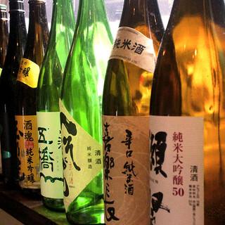 京都の地酒から季節のお酒まで豊富にご用意◎